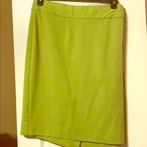 Bright green plus size skirt